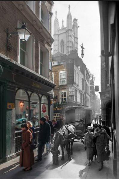 칩사이드의 과거와 현재를 합성한 사진
